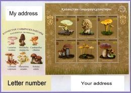 Kazakhstan 2019.  A Letter To Your Address. Kazakhstan Mushrooms. Cover. Flora. Plants. - Kazakhstan