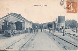 BACDEC19- CHABLIS  DANS L'YONNE  LA GARE  CPA  CIRCULEE - Chablis