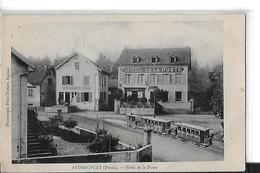 AUDINCOURT   HOTEL DE LA POSTE    TRAIN  DEVANT LA POSTE  ET HOTEL   TIRAGE 1900 DEPT 25 - France