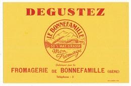 Buvard 21 X 13,4 Fromagerie De BONNEFAMILLE Isère - Leche