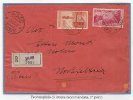 LuogoT. 053 - LUOGOTENENZA 1946 - Frontespizio Di Lettera Racc. Da San Leo A Novafeltria 3.12.46  - - 5. 1944-46 Lieutenance & Humberto II