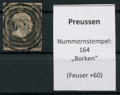 "Preussen: 1 Sgr. MiNr. 2 Nummernstempel 164 ""Borken""  Gestempelt / Used / Oblitéré - Preussen"