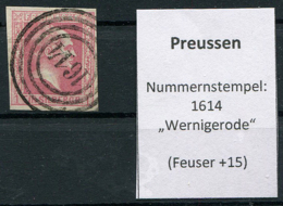 "Preussen: 1 Sgr. MiNr. 6 Nummernstempel 1614 ""Wernigerode""  Gestempelt / Used / Oblitéré - Preussen"