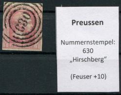 """Preussen: 1 Sgr. MiNr. 6 Nummernstempel 630 """"Hirschberg""""  Gestempelt / Used / Oblitéré - Prusse"""