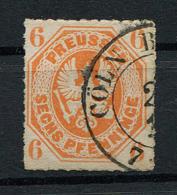 """Preussen: 6 Pfe. MiNr. 15 1861 Zweikreisstempel """"Köln (Cöln)"""" Gestempelt / Used / Oblitéré - Preussen (Prussia)"""