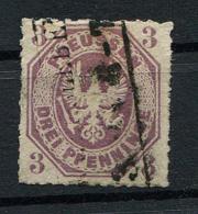 Preussen: 3 Pfe. MiNr. 19 1865 Gestempelt / Used / Oblitéré - Preussen (Prussia)