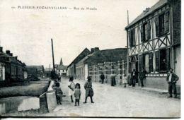 N°268 T -cpa Plessier Rozainvillers -rue Du Moulin- - Francia