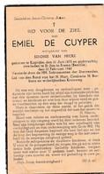 Kaprijke, St Jan-in-Eremo, Bentille, 1945, Emiel De Cuyper, Van Hecke - Devotieprenten