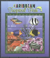 PK436 ST.KITTS FISH & MARINE LIFE CARIBBEAN TROPICAL FISH 1KB MNH - Meereswelt