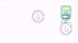Nouvelle Caledonie New Caledonia Cachet A Date Ponerihouen Province Nord Annexe Mobile 1983 Us Courant Rare - New Caledonia