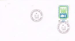 Nouvelle Caledonie New Caledonia Cachet A Date Ponerihouen Province Nord Annexe Mobile 1983 Us Courant Rare - Nouvelle-Calédonie