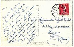 NIEVRE CP 1957 NEVERS A PARIS CONVOYEUR - Storia Postale