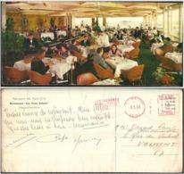 Paris Orly Aéroport Restaurant Les Trois Soleils 1969 Tampon Restaurant Bar De L'aérogare Salle De Conférence - Orly