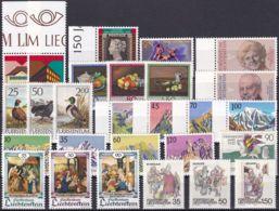 LIECHTENSTEIN 1990 Mi-Nr. 984-10 Kompletter Jahrgang/complete Year Set ** MNH - Liechtenstein