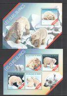 ST2667 2014 NIGER FAUNA ANIMALS POLAR BEARS OURS BLANCS 1KB+1BL MNH - Bears