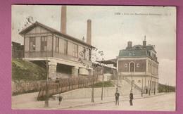 Cpa Gare Des Moulineaux Billancourt - Colorisee - éditeur GI N°1298 - Issy Les Moulineaux