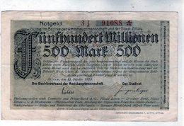 Billet De Nécessité  De La République De Weimar > Reichsbanknote > 500 Millionen Mark Du 15 Octobre 1923 - - [ 3] 1918-1933: Weimarrepubliek