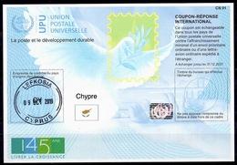 CHYPRE CYPRUSIs45 20190726 AB 145 ANSInt. Reply Coupon Reponse Antwortschein IRC IASHologram o LEFKOSIA 09.10.19 FD - Cyprus (Republiek)
