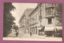 Cpa Paris Rue Francois Millet Caserne De Pompiers - Café, Restaurant - édition Jamasse ? - District 16