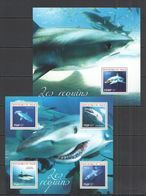 ST2731 2014 NIGER FAUNA MARINE LIFE SHARKS LES REQUINS KB+BL MNH - Marine Life
