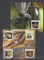 ST2737 2014 NIGER FAUNA ANIMALS BATS LES CHAUVES-SOURIS KB+BL MNH - Bats