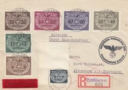 GG: Portogerechte MiF Einschreiben/Eil Hrubieszow Sicherheitspolizei Kriminaldirektion - Besetzungen 1938-45