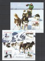 ST2745 2014 NIGER FAUNA PETS DOGS CHIENS DE TRENEAU 1KB+1BL MNH - Hunde