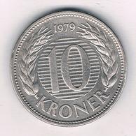 10 KRONER  1979 DENEMARKEN/9250/ - Dänemark