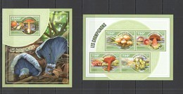 ST2771 2014 NIGER FLORA NATURE MUSHROOMS LES CHAMPIGNONS 1KB+1BL MNH - Schelpen