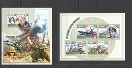 ST2774 2014 NIGER MILITARY WORLD WAR II LE SECONDE GUERRE MONDIALE KB+BL MNH - WW2