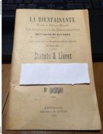 """36 - LEVROUX - Livret 13 X 20 De 48 Pages  """" LA BIENFAISANTE"""" Société De Secours Mutuels - Old Paper"""