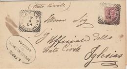 Sardara. 1904. Annullo Tondo Riquadrato SARDARA (CAGLIARI) + Ovale MUNICIPIO DI SARDARA, Su Modulo Con Testo - Storia Postale