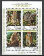 ST2002 2015 NIGER FAUNA ANIMALS MONKEYS PRIMATES 1KB MNH - Apen