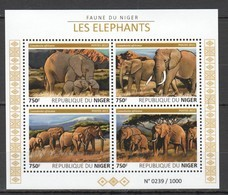 ST2016 2015 NIGER FAUNA ANIMALS ELEPHANTS 1KB MNH - Elephants