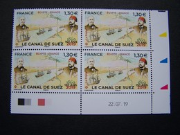 FRANCE 2019 NEUF** N° 5347 LE CANAL DE SUEZ COIN DATE 22.07.19 - 2010-....