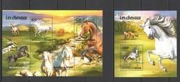 ST2024 2015 NIGER FAUNA ANIMALS HORSES LES CHEVAUX KB+BL MNH - Horses