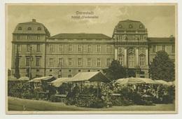 AK  Darmstadt Schloss Mit Markt 1928 - Darmstadt