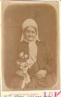 PHOTO ANCIENNE CDV MME NOURY 101 ANS EN 1889 CENTENAIRE DU 19 EME SIECLE PHOTO JULIANE PARIS - Identifizierten Personen