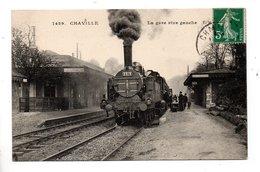 92 - CHAVILLE . LA GARE RIVE GAUCHE . LOCOMOTIVE - Réf. N°23863 - - Chaville