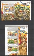 ST2064 2015 NIGER WAR 70TH ANNIVERSARY END WORLD WAR II KB+BL MNH - WO2