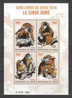 ST2069 2015 NIGER FAUNA ANIMALS YEAR OF THE MONKEY LE SIGNE DORE 1KB MNH - Monkeys