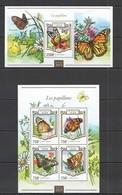 ST2073 2015 NIGER FAUNA INSECTS BUTTERFLIES LES PAPILLONS 1KB+1BL MNH - Butterflies