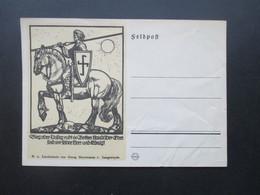 3. Reich Feldpost 2.WK Propagandakarte Sieg Oder Unsieg Ruht In Gottes Hand! Linolschnitt Georg Sluyterman V. Langeweyde - Allemagne