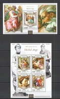 ST2080 2015 NIGER ART PAINTINGS 540TH ANNIVERSARY MICHEL-ANGE KB+BL MNH - Andere