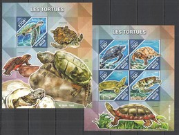 ST2114 2015 NIGER FAUNA REPTILES TURTLES LES TORTUES KB+BL MNH - Turtles