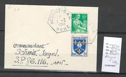 Algerie - Lettre  - Cachet Hexagonal NEGRINE SAS -  Marcophilie - Argelia (1924-1962)