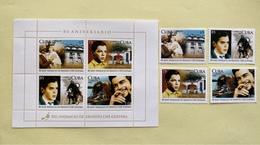 Cuba 2008 Set Of 4 + M/S 80th Anniversary Birth Of Ernesto Che Guevara People Politician Leader Celebrations Stamps MNH - Cuba