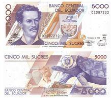 Ecuador 5000 Sucres 1999 P-128c Banknotes UNC - Ecuador
