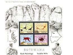 Botswana 1975-Fresques,animaux,oiseaux YB10***MNH - Archeologie