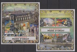 ST1831 2016 NIGER PAINTINGS 30TH ANNIVERSARY ORSAY MUSEUM KB+BL MNH - Other